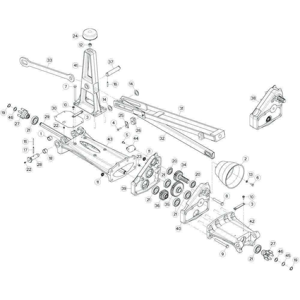 11 Tussenwing 1, links passend voor KUHN GF13002