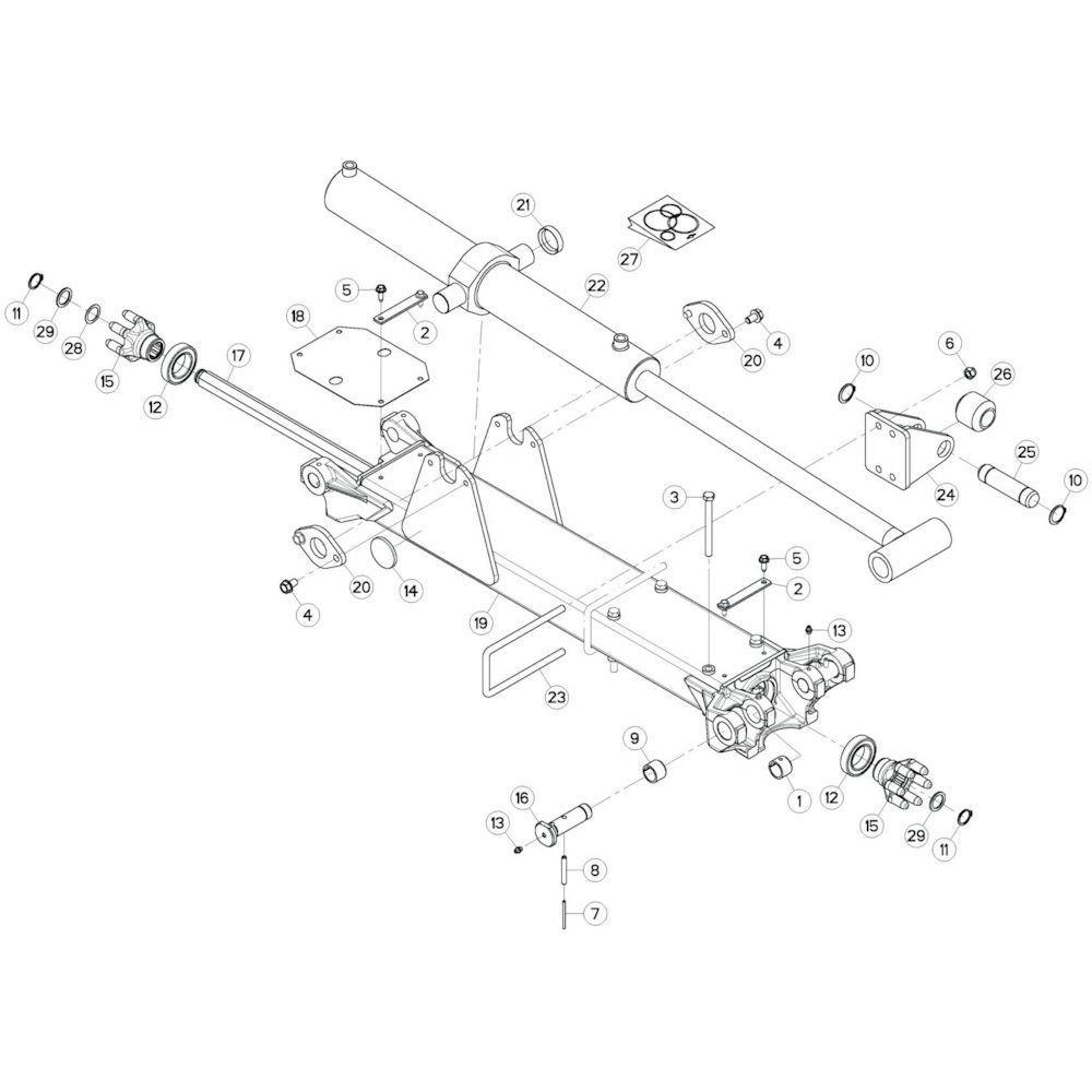 12 Tussenwing 2, rechts passend voor KUHN GF13002