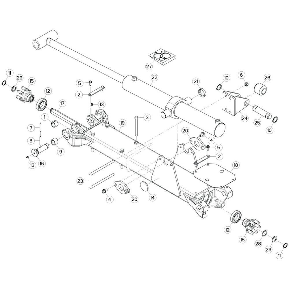 13 Tussenwing 2, links passend voor KUHN GF13002