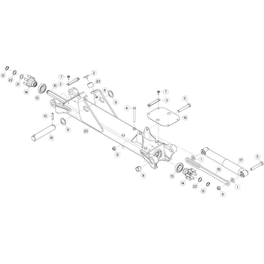 14 Tussenwing 3, rechts passend voor KUHN GF13002