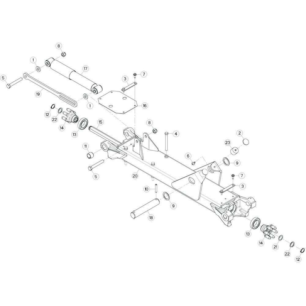 15 Tussenwing 3, links passend voor KUHN GF13002