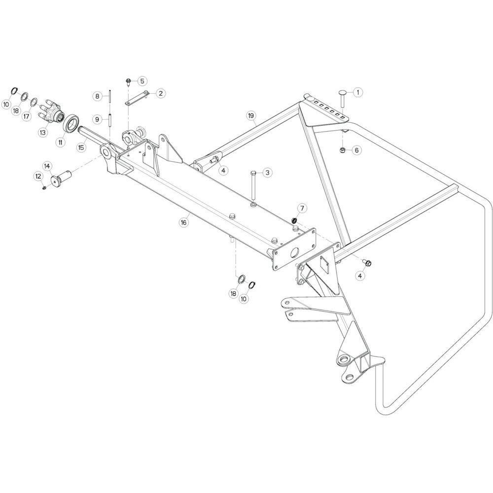 16 Buitenwing, rechts passend voor KUHN GF13002