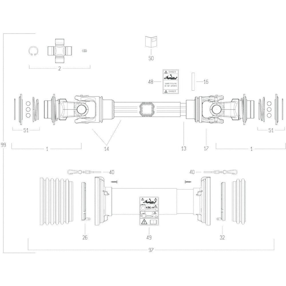 40 Transmissie 4 passend voor KUHN GF13002