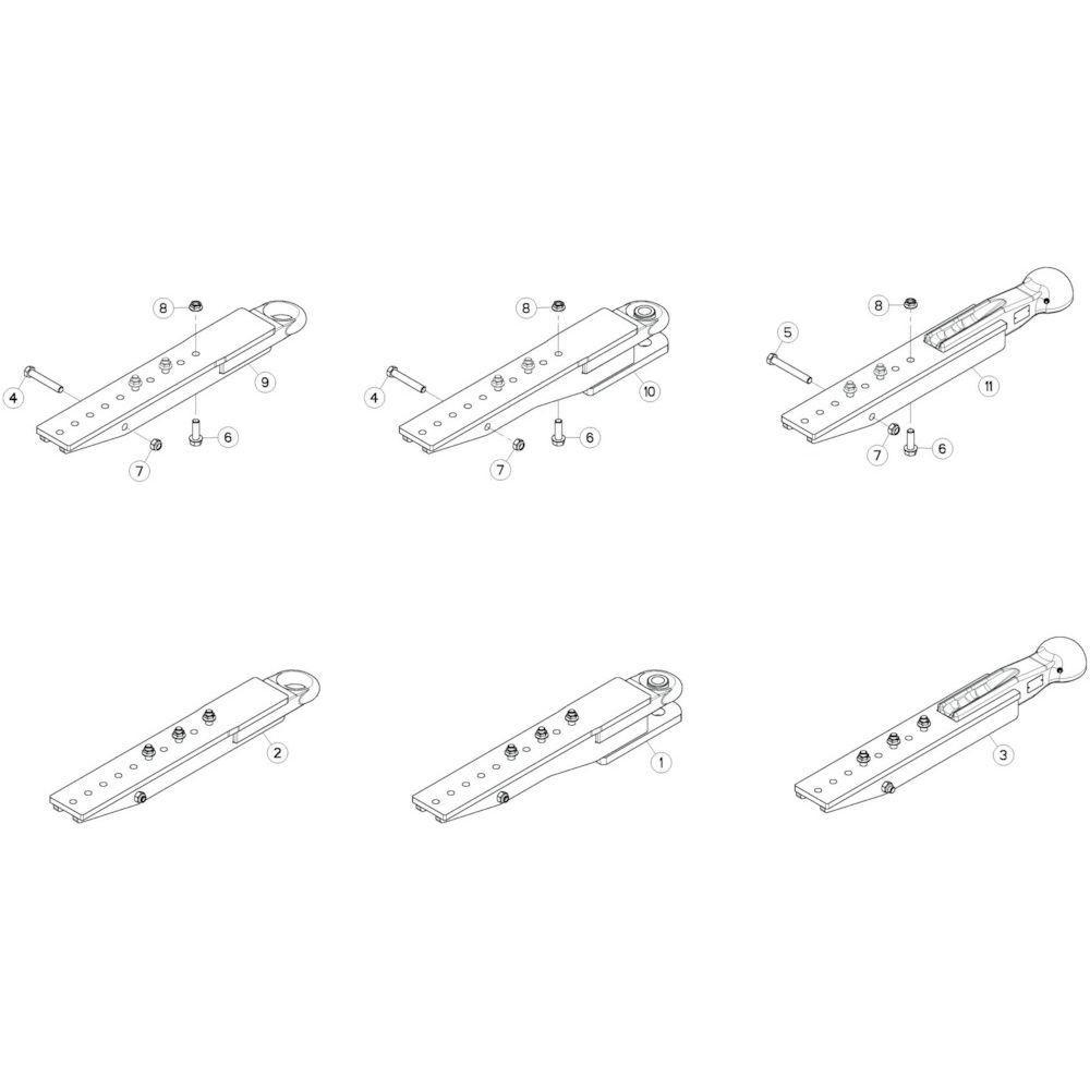 01 Verbindingsframe passend voor KUHN GF13002