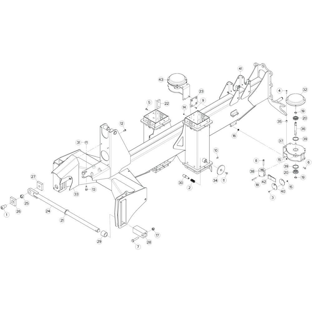 04 Verbindingsframe, achter 1 passend voor KUHN GF13002