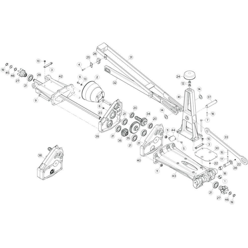 12 Tussenwing 1, rechts passend voor KUHN GF13002