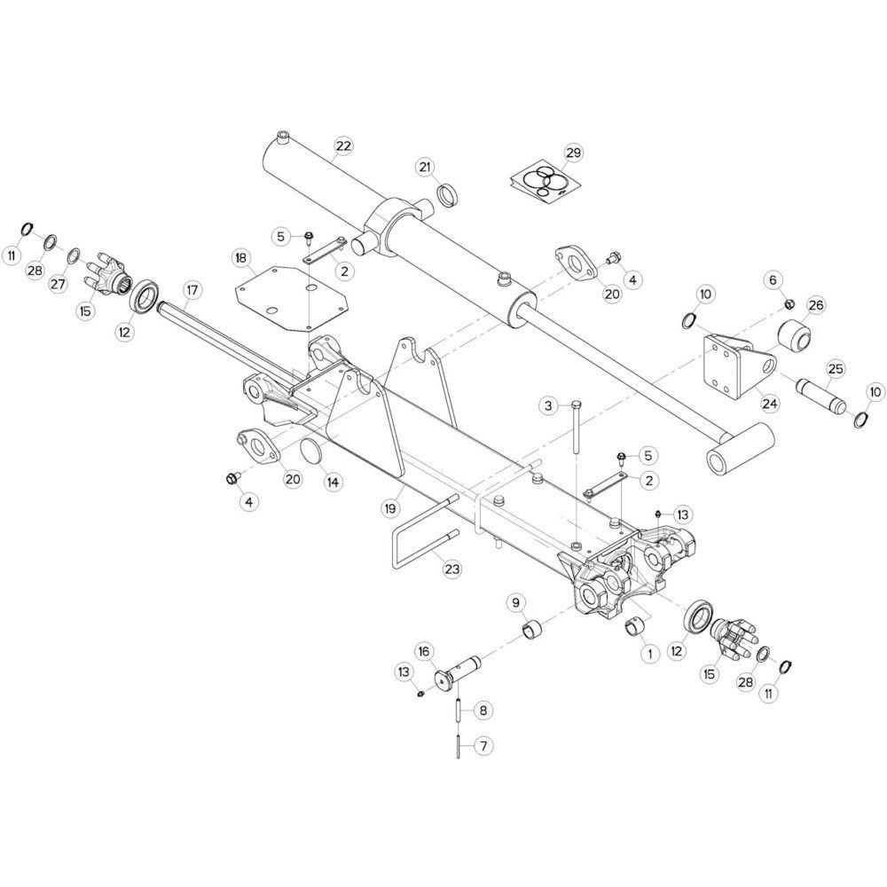 14 Tussenwing 2, rechts passend voor KUHN GF13002