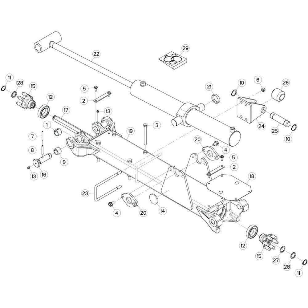 15 Tussenwing 2, links passend voor KUHN GF13002
