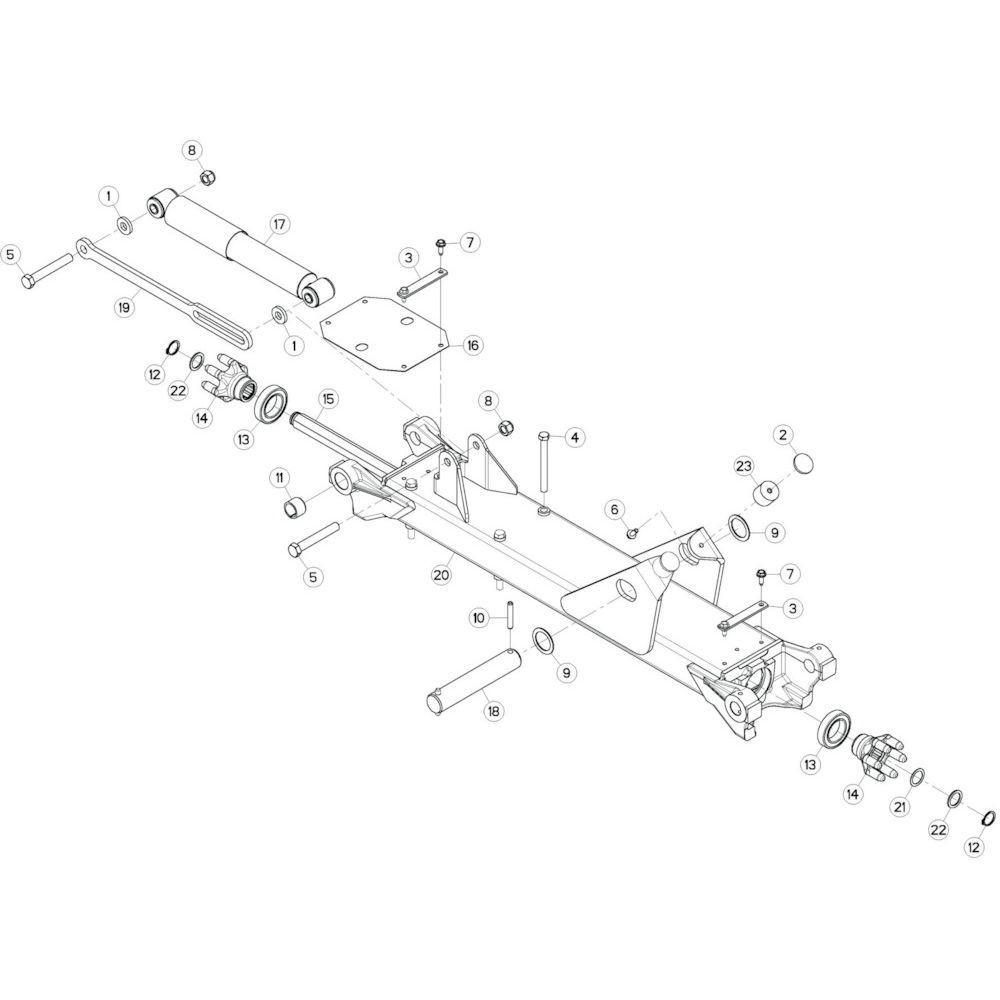 17 Tussenwing 3, links passend voor KUHN GF13002