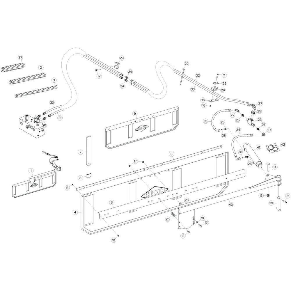 41 Deflector 1 passend voor KUHN GF13002