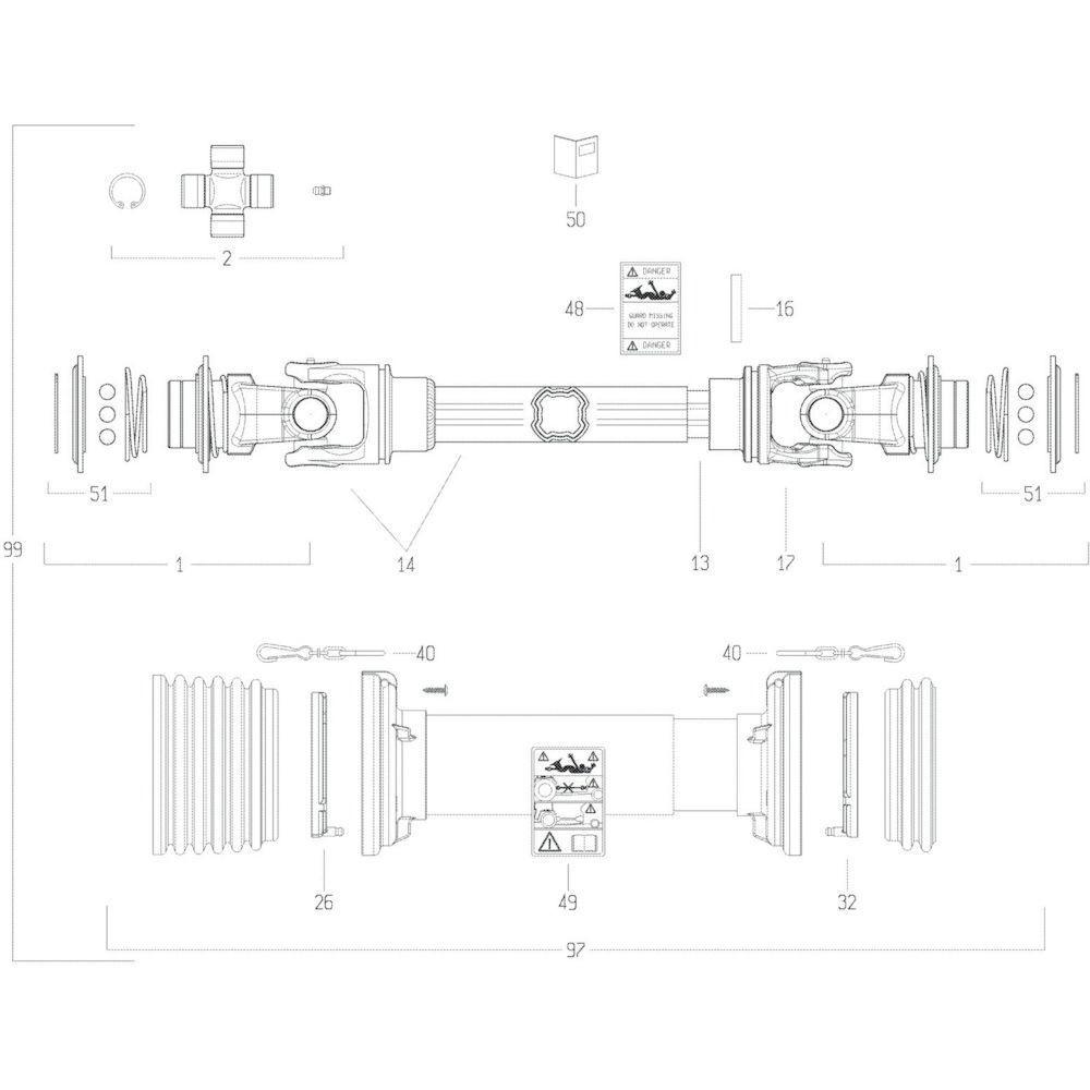 46 Transmissie 4 passend voor KUHN GF13002