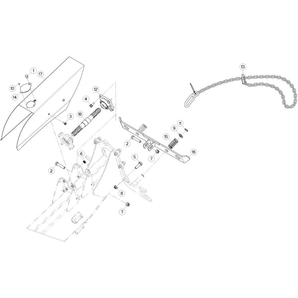 04 Aandrijving passend voor KUHN GF13002