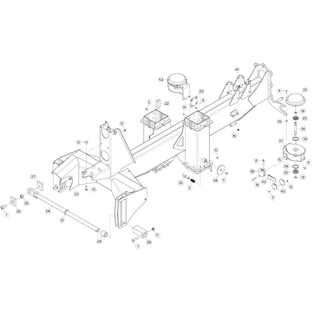 05 Verbindingsframe, achter 1 passend voor KUHN GF13002