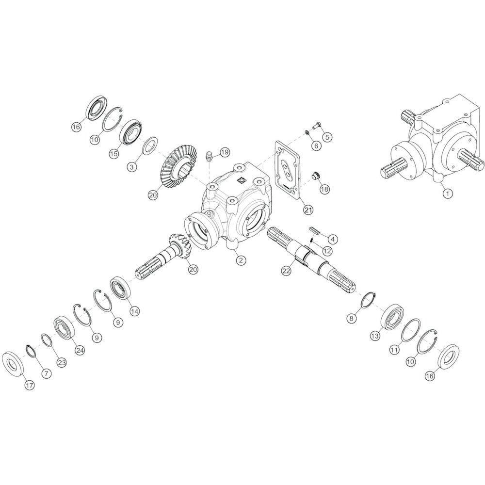 10 Conische tandwielkast passend voor KUHN GF13002