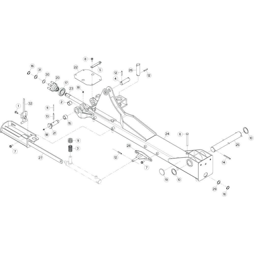 13 Centrale wing, links passend voor KUHN GF13002