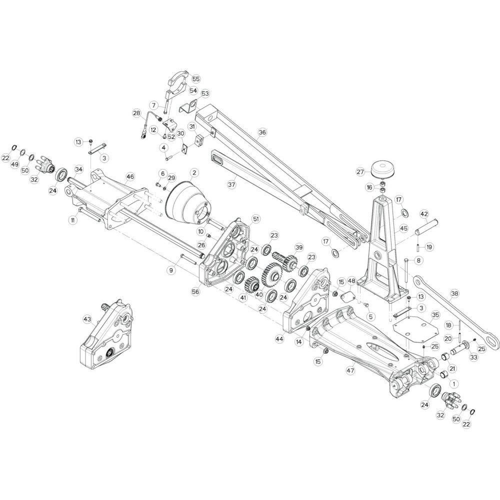 16 Tussenwing 1, rechts 3 passend voor KUHN GF13002