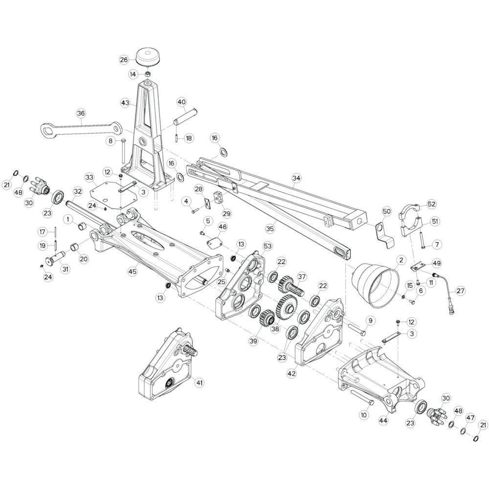 17 Tussenwing 1, links 1 passend voor KUHN GF13002
