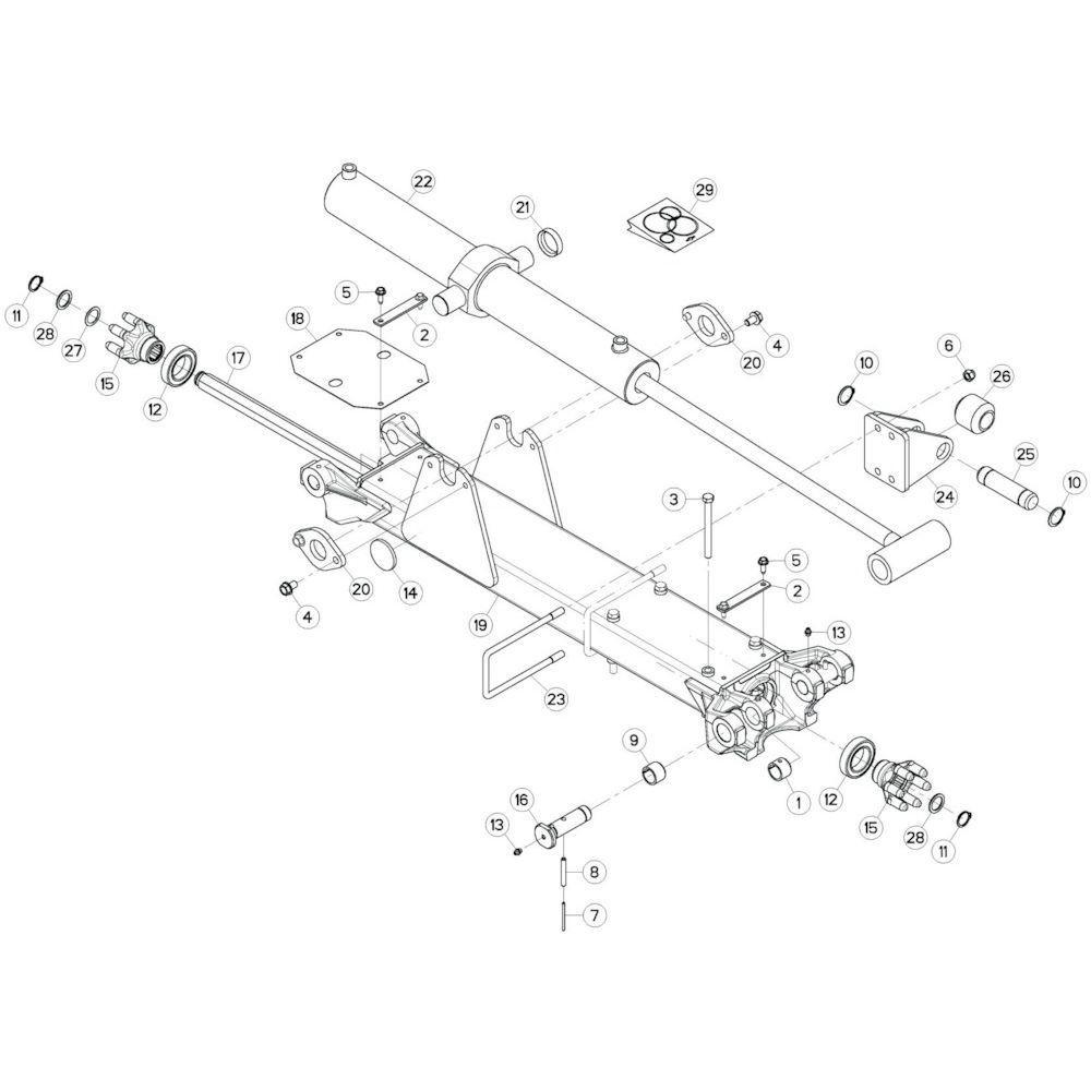 20 Tussenwing 2, rechts passend voor KUHN GF13002