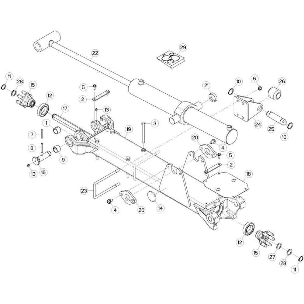 21 Tussenwing 2, links passend voor KUHN GF13002