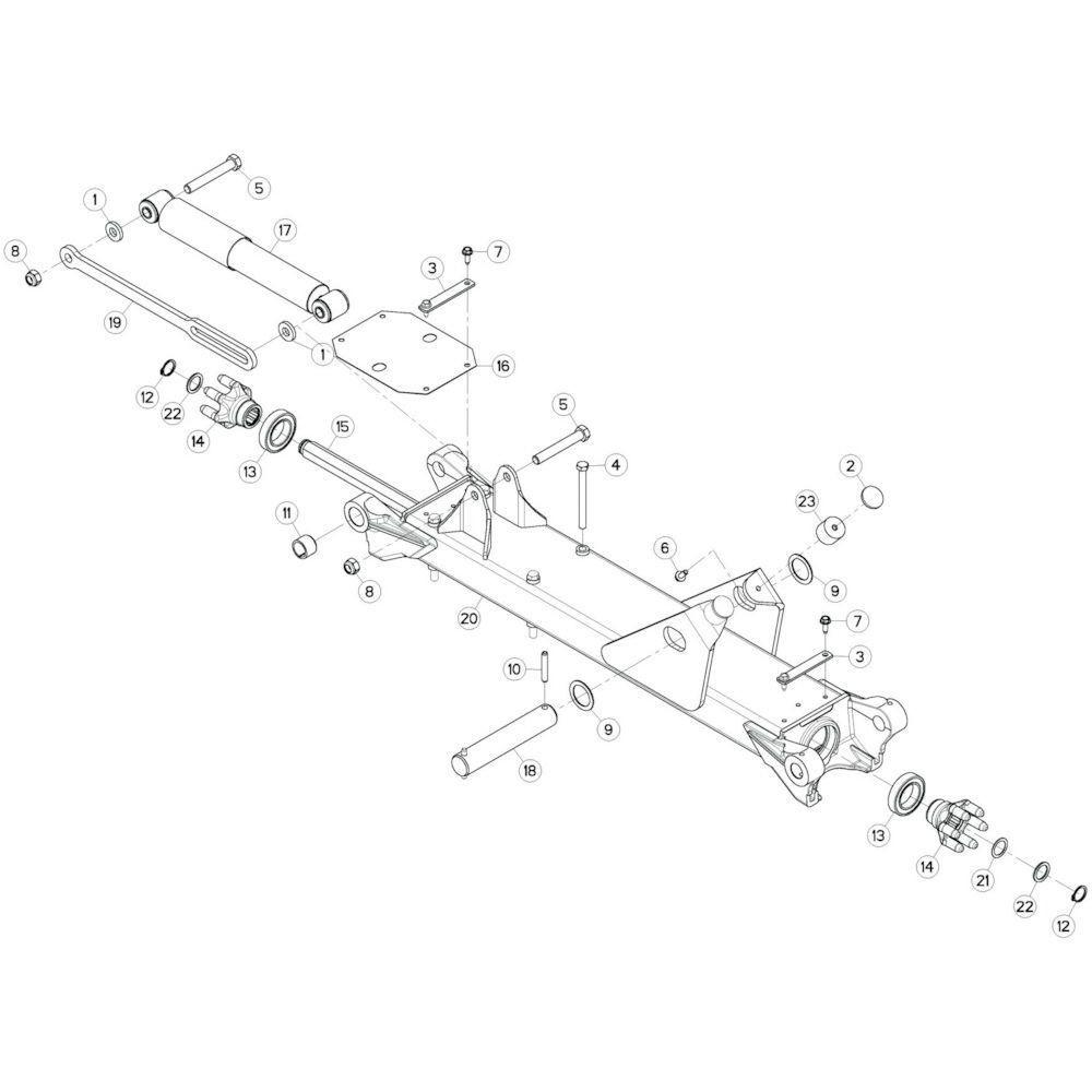 23 Tussenwing 3, links passend voor KUHN GF13002