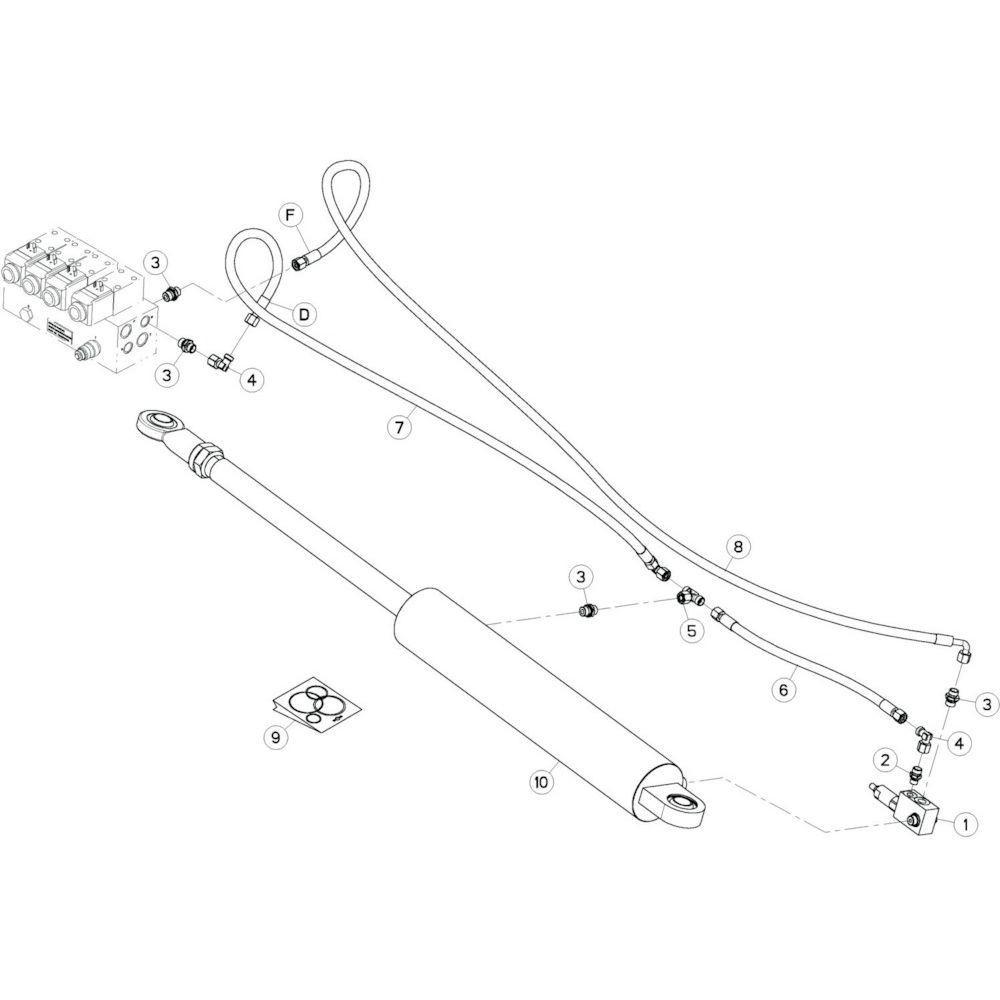 30 Hydrauliekslangen, rechts 1 passend voor KUHN GF13002