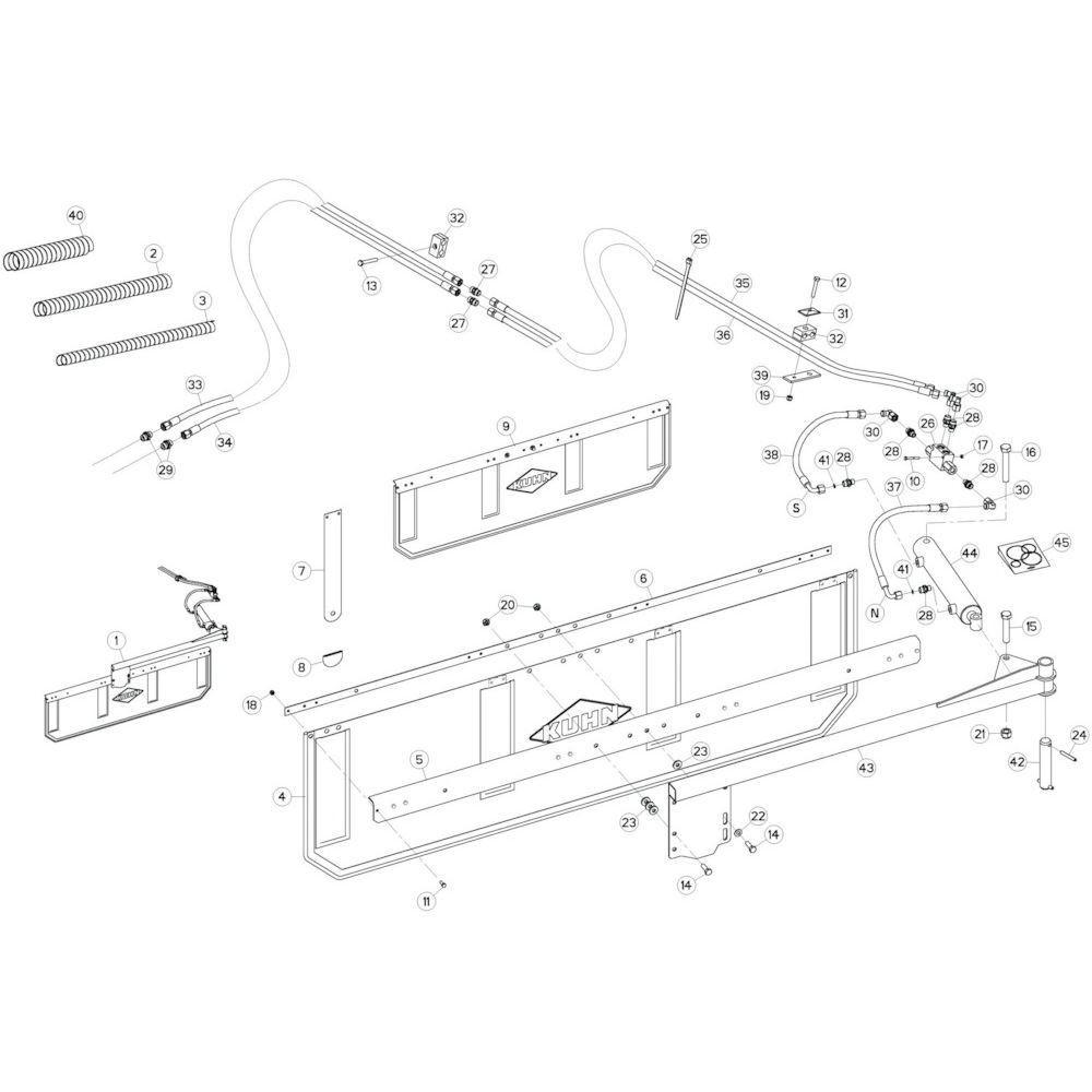 54 Deflectorset passend voor KUHN GF13002