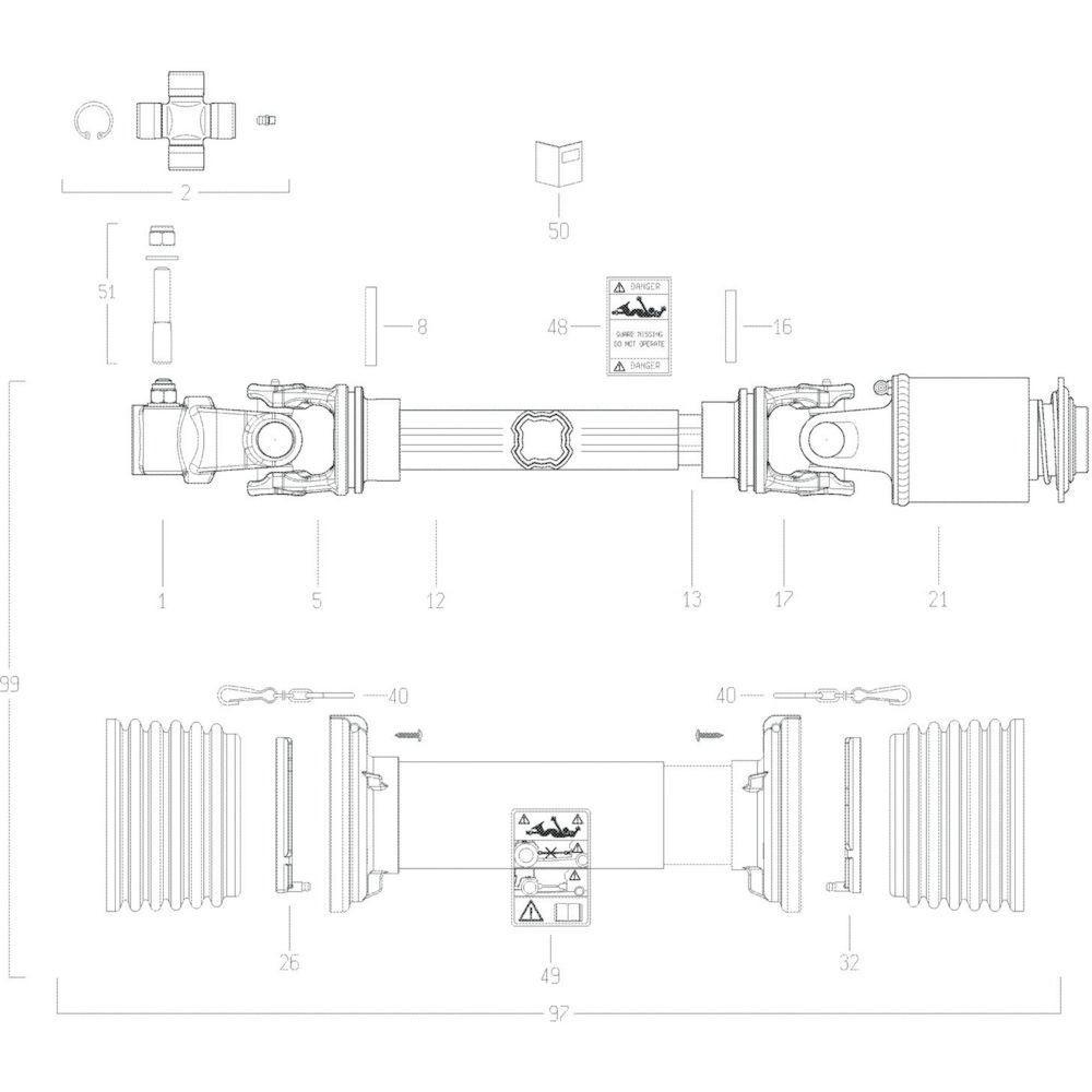 57 Transmissie 2 passend voor KUHN GF13002
