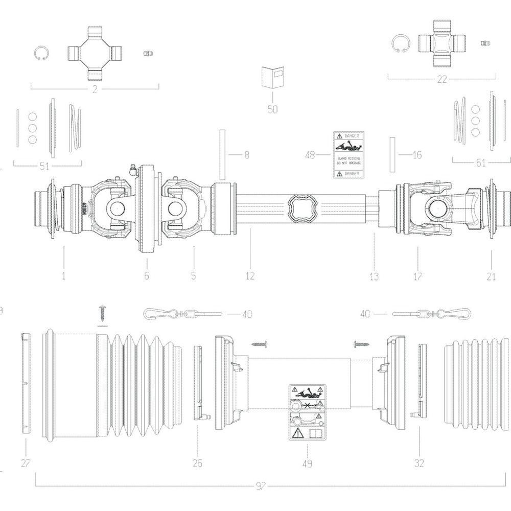 58 Transmissie 3 passend voor KUHN GF13002
