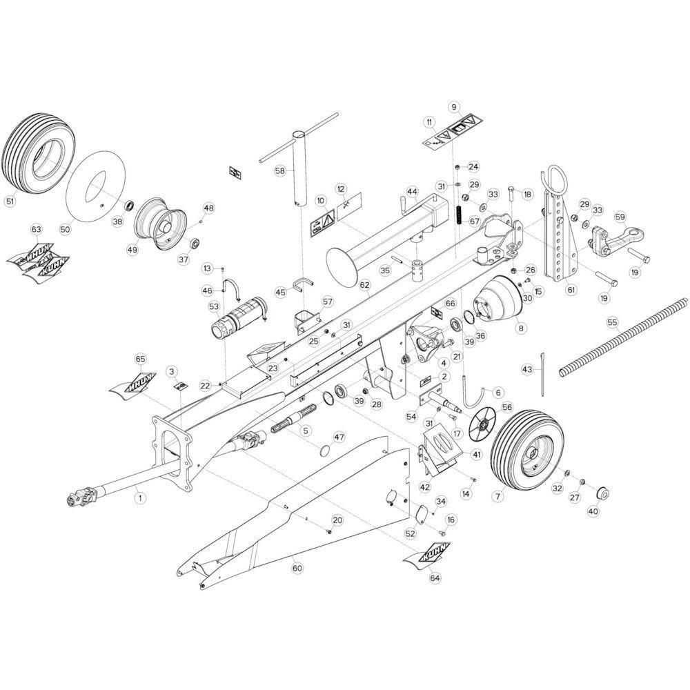 04 Trekstang 3 passend voor KUHN GF13002