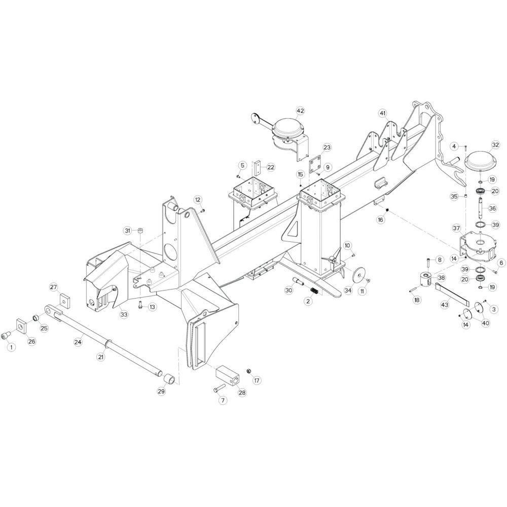 08 Verbindingsframe, achter 2 passend voor KUHN GF13002