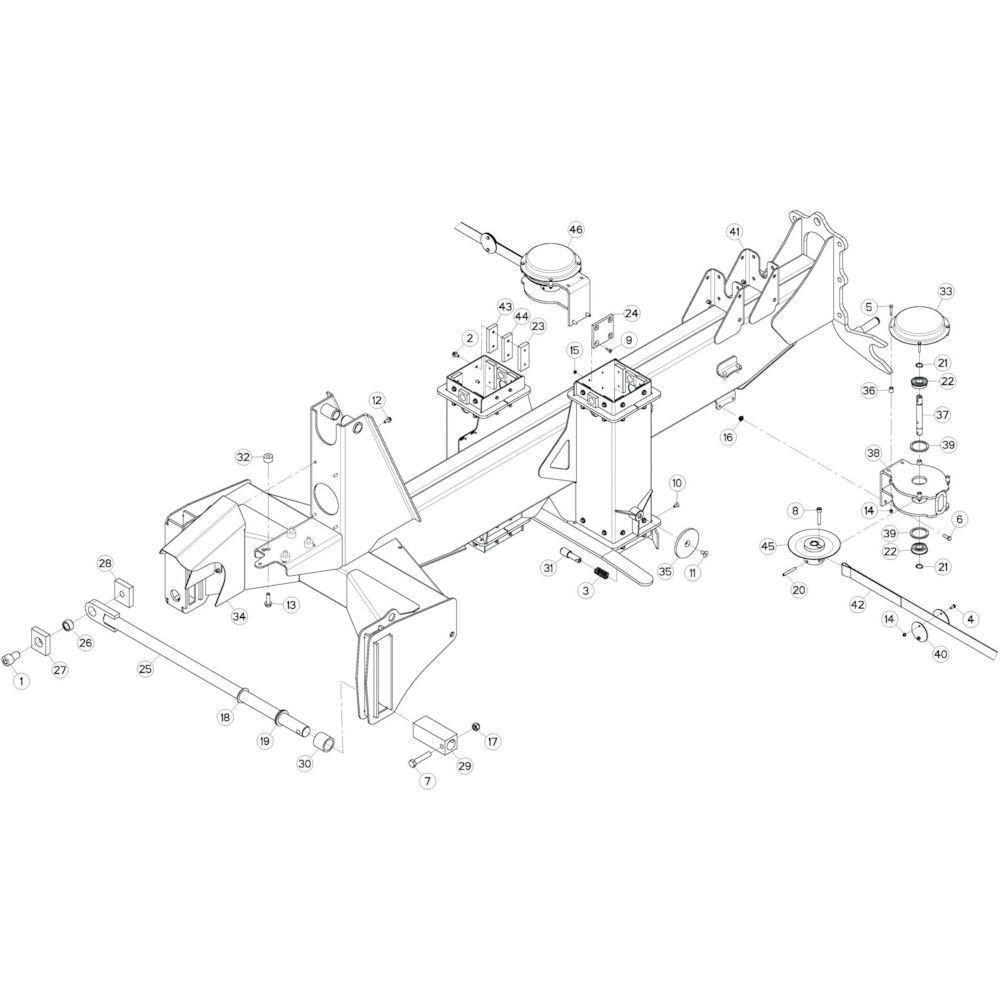 09 Verbindingsframe, achter 3 passend voor KUHN GF13002
