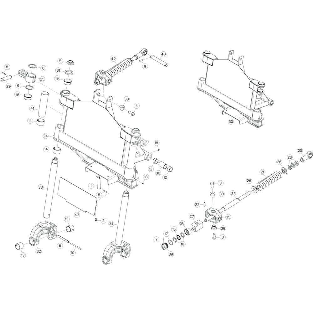11 Kantelverstelling 1 passend voor KUHN GF13002