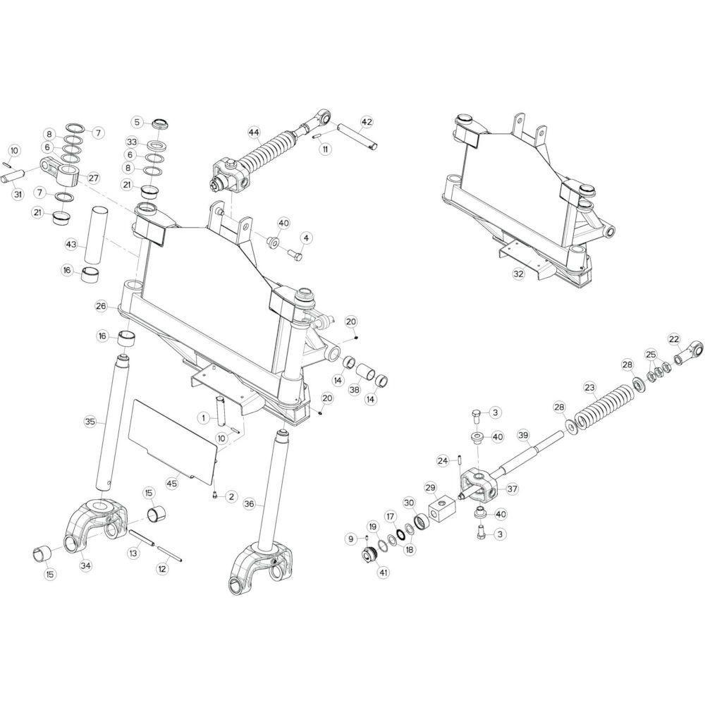 12 Kantelverstelling 2 passend voor KUHN GF13002