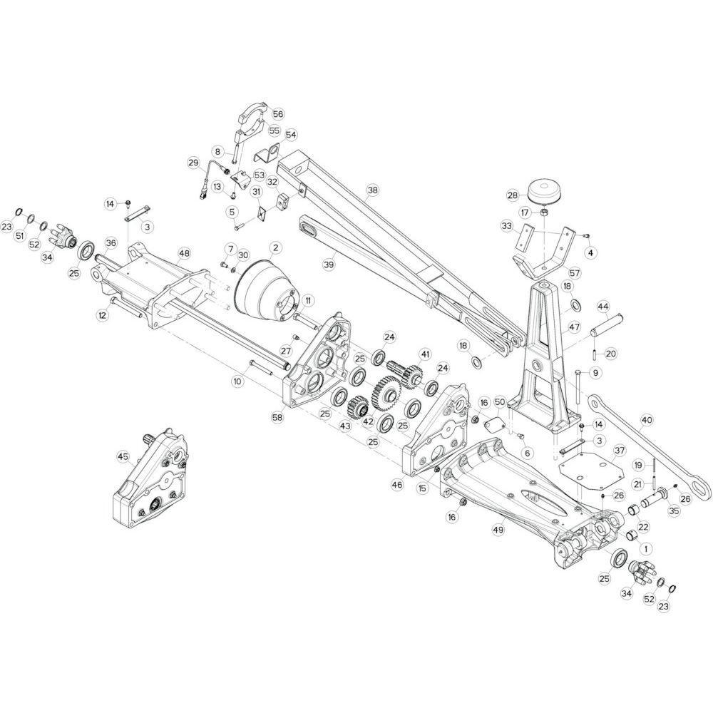 18 Tussenwing 1, rechts 1 passend voor KUHN GF13002