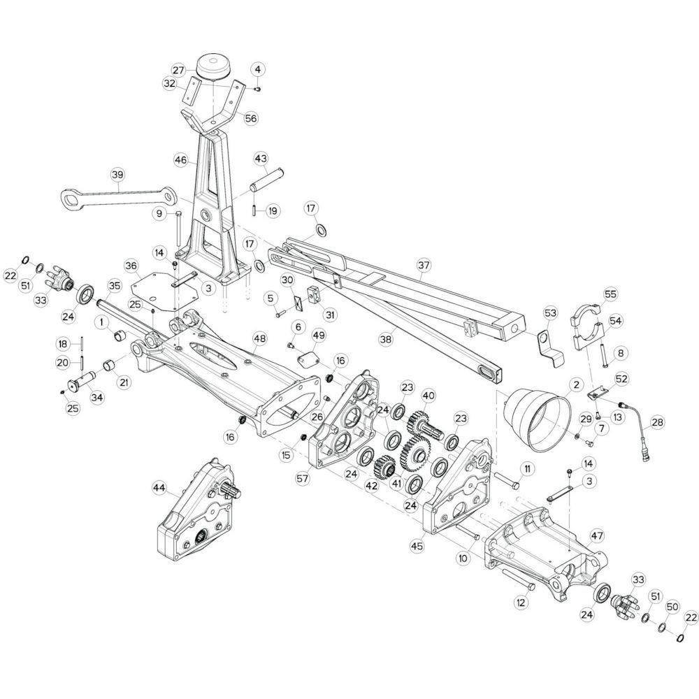 21 Tussenwing 1, links 1 passend voor KUHN GF13002