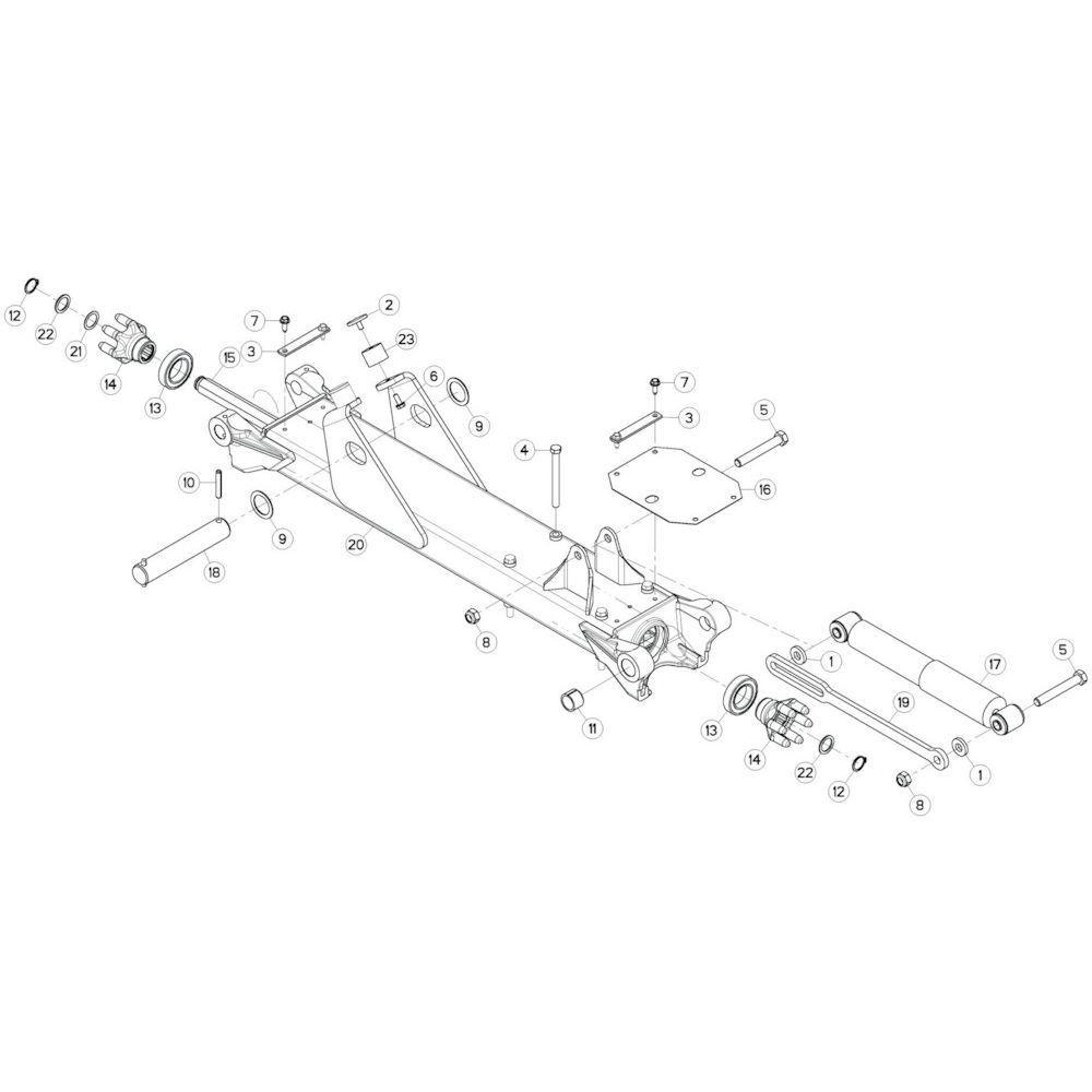 28 Tussenwing 3, rechts 1 passend voor KUHN GF13002