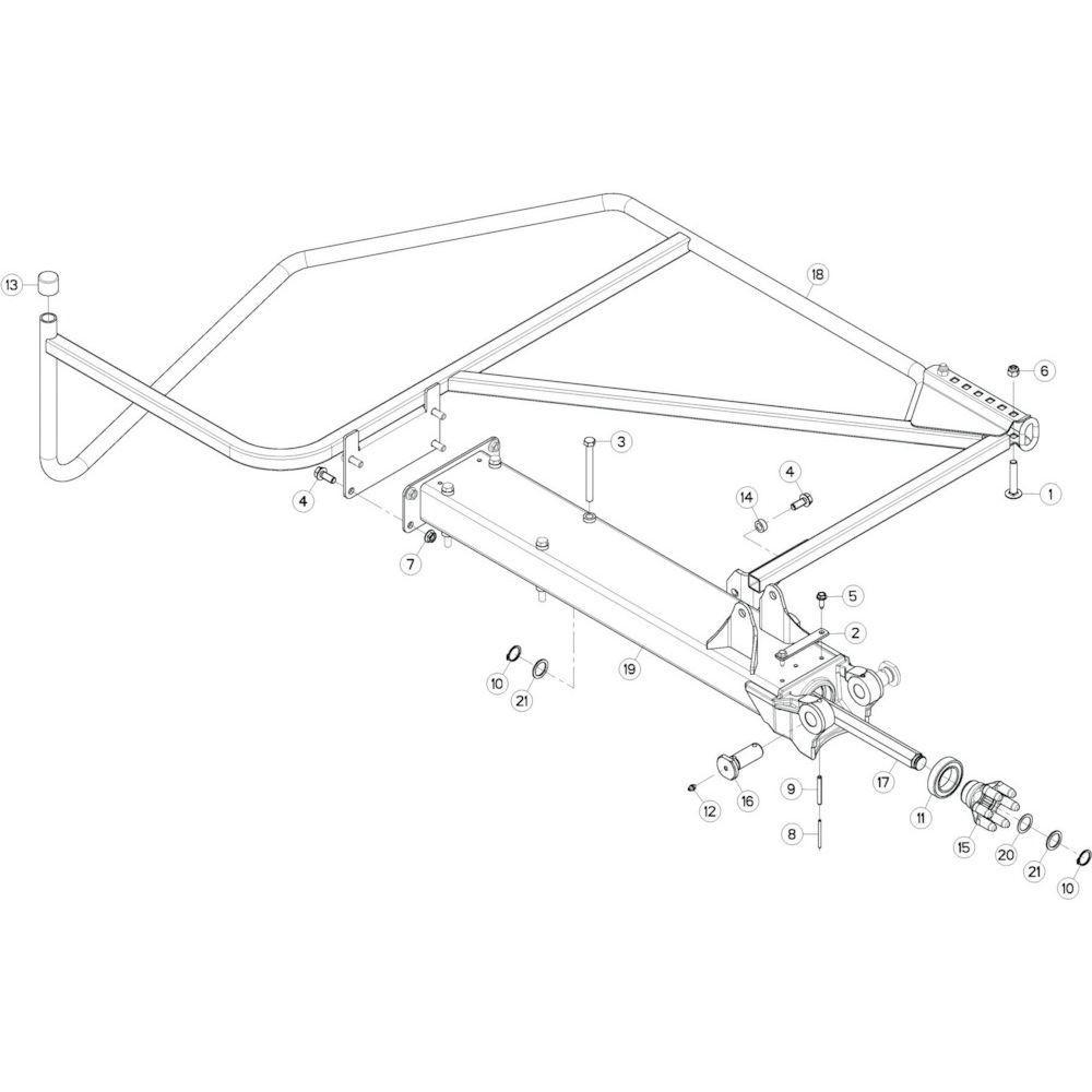 34 Buitenwing, links 1 passend voor KUHN GF13002