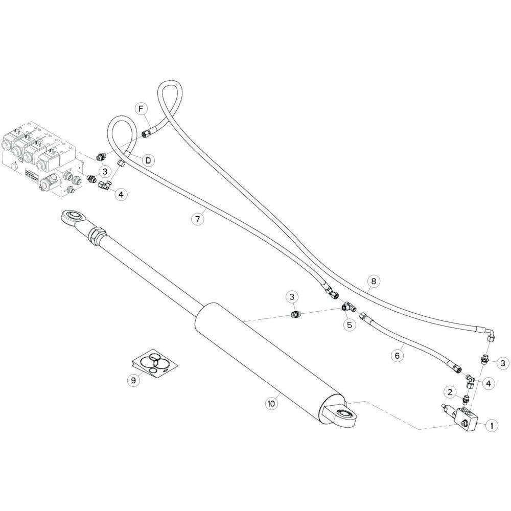 39 Hydrauliekslangen, rechts 1 passend voor KUHN GF13002