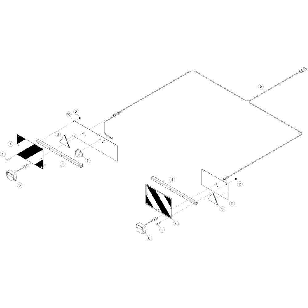 76 Verlichting 1 passend voor KUHN GF13002