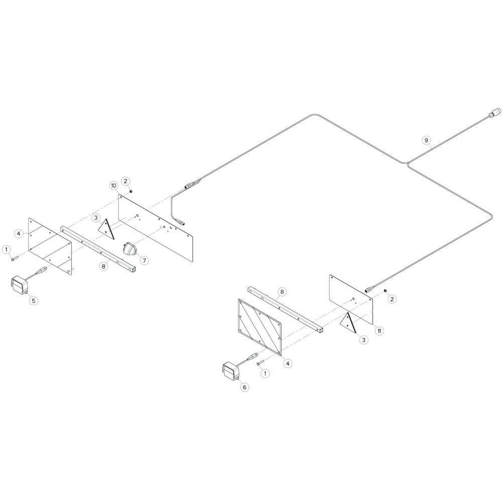 77 Verlichting 2 passend voor KUHN GF13002