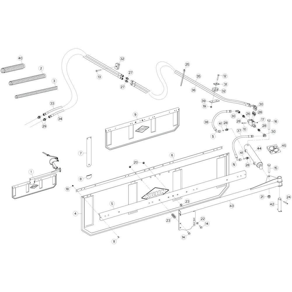 83 Deflectorset 1 passend voor KUHN GF13002
