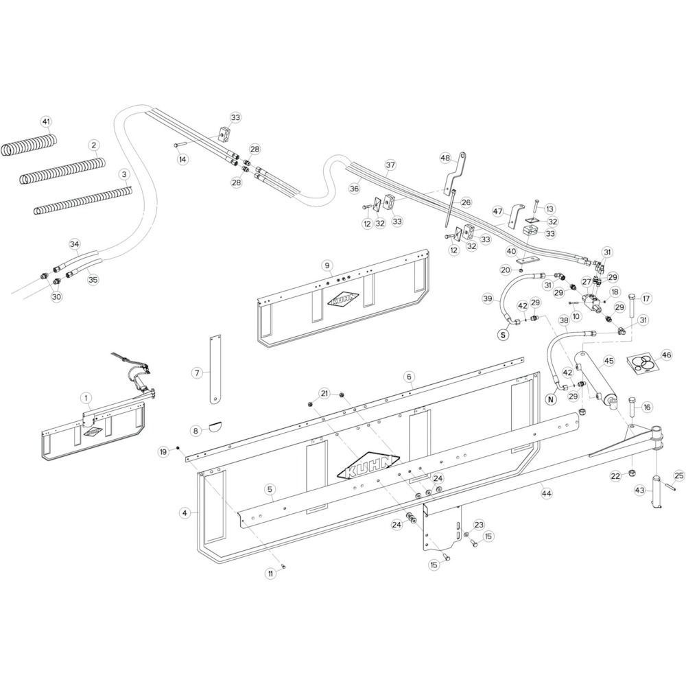 84 Deflectorset 2 passend voor KUHN GF13002