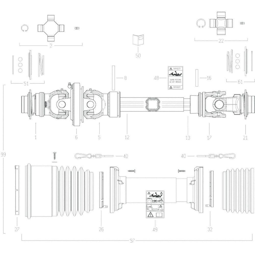 88 Transmissie 3 passend voor KUHN GF13002