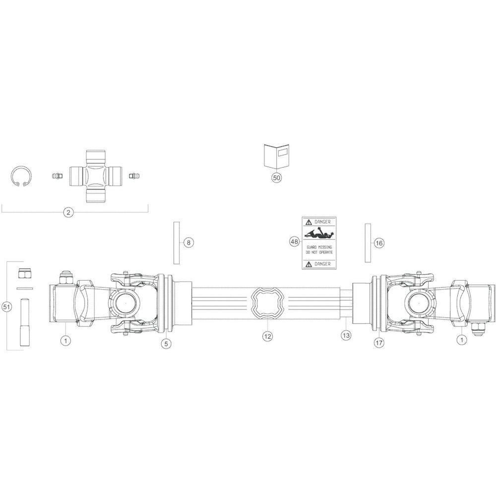 89 Transmissie 4 passend voor KUHN GF13002