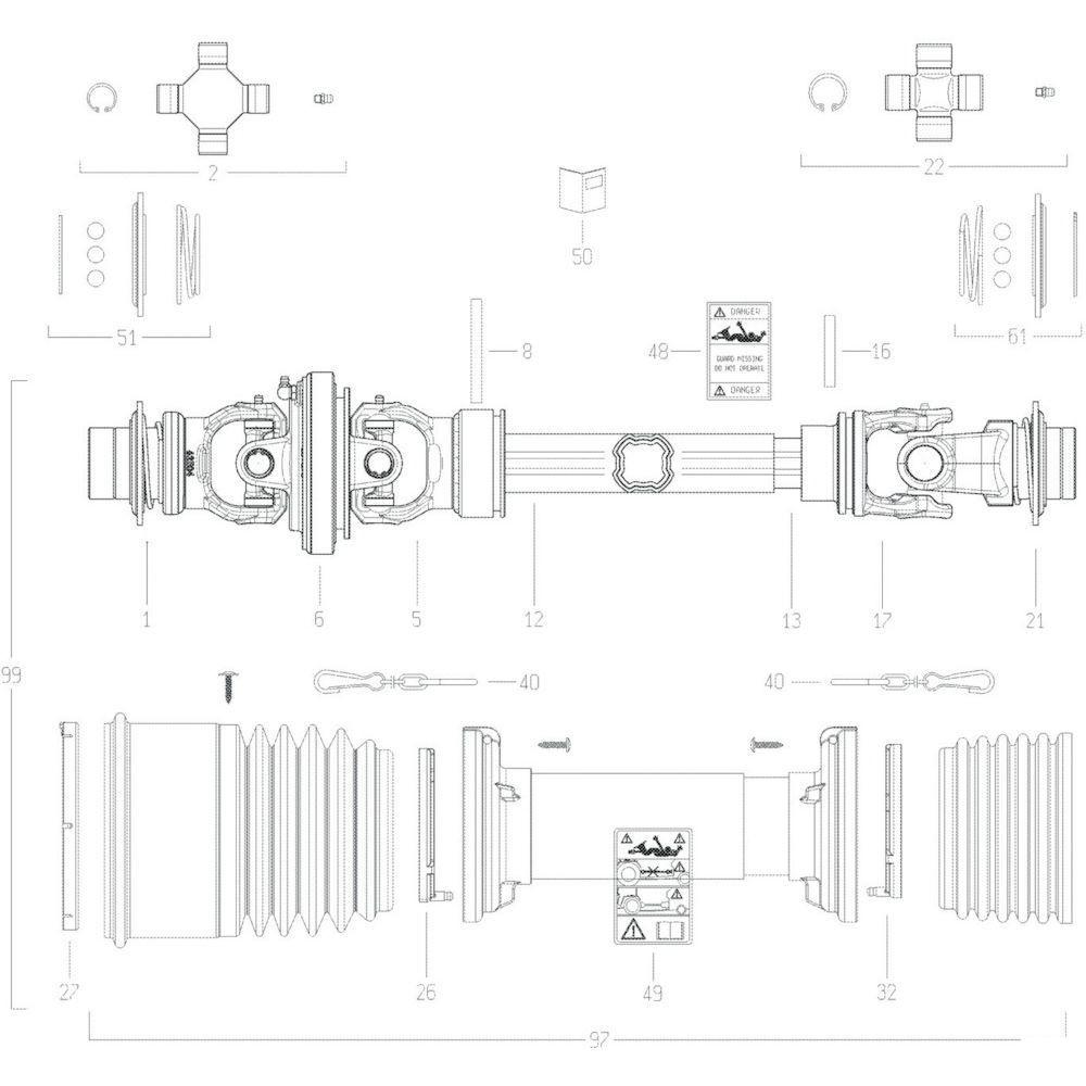 90 Transmissie 5 passend voor KUHN GF13002