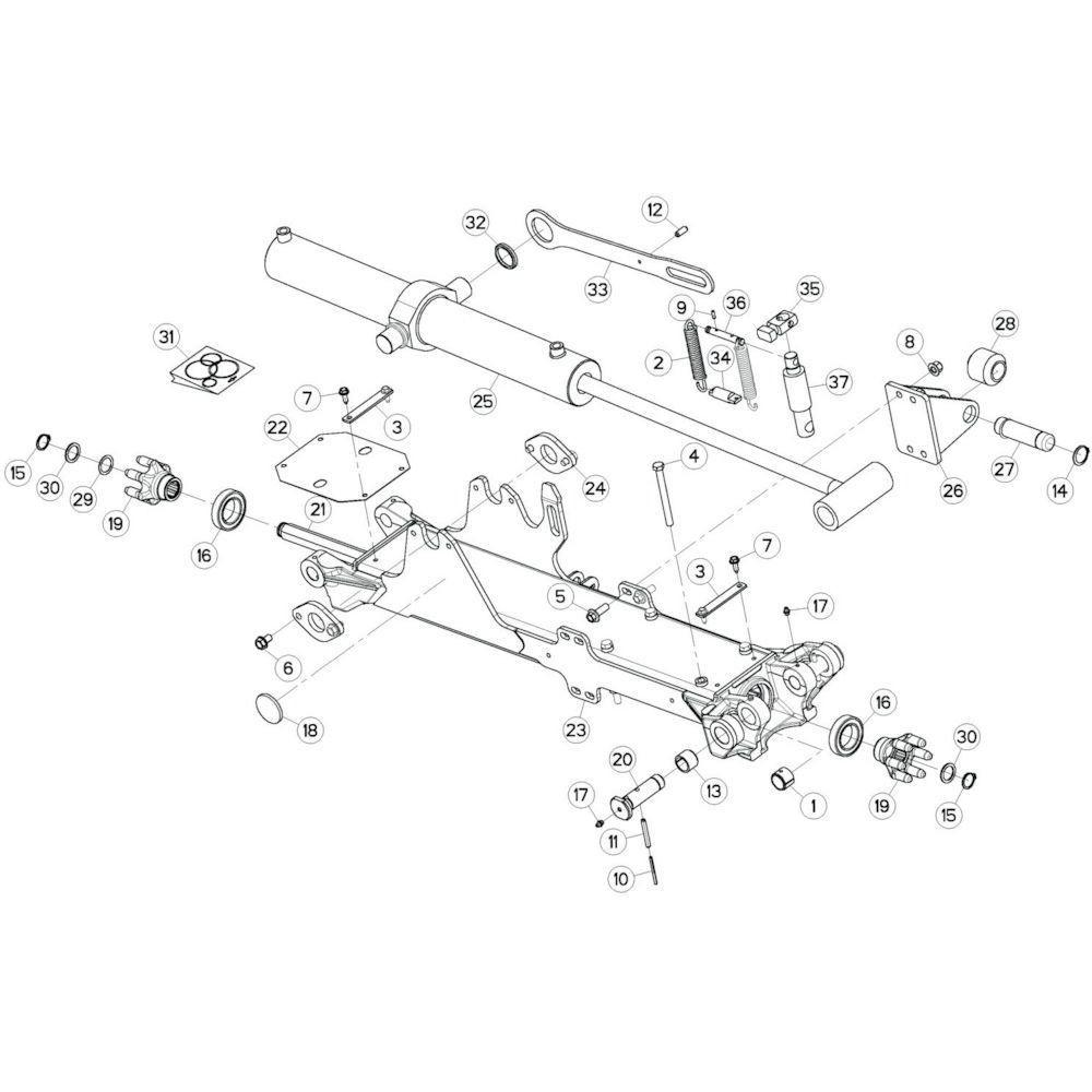 13 Tussenwing 2, rechts passend voor KUHN GF13012