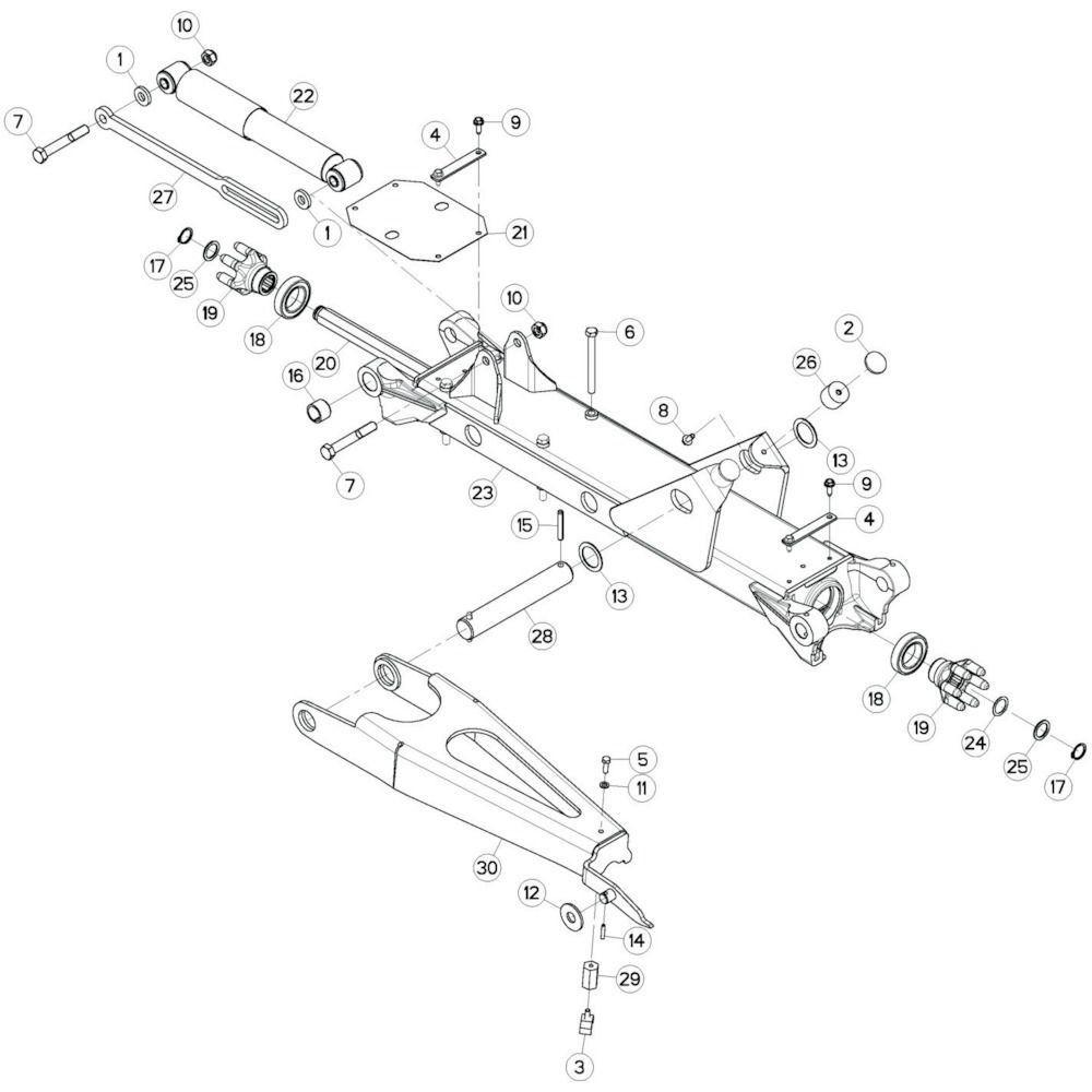 16 Tussenwing 3, links passend voor KUHN GF13012