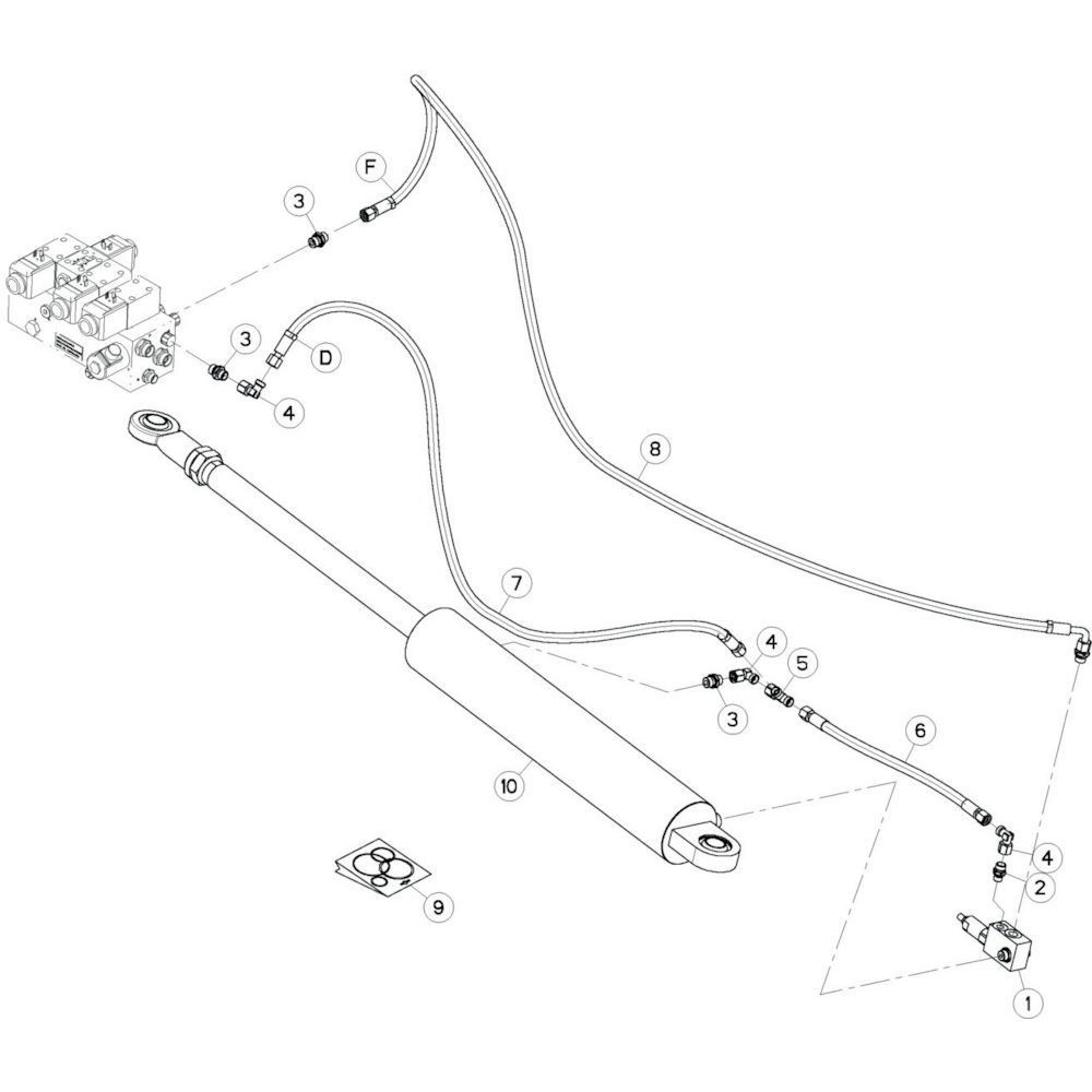 21 Hydrauliekslangen, rechts 1 passend voor KUHN GF13012