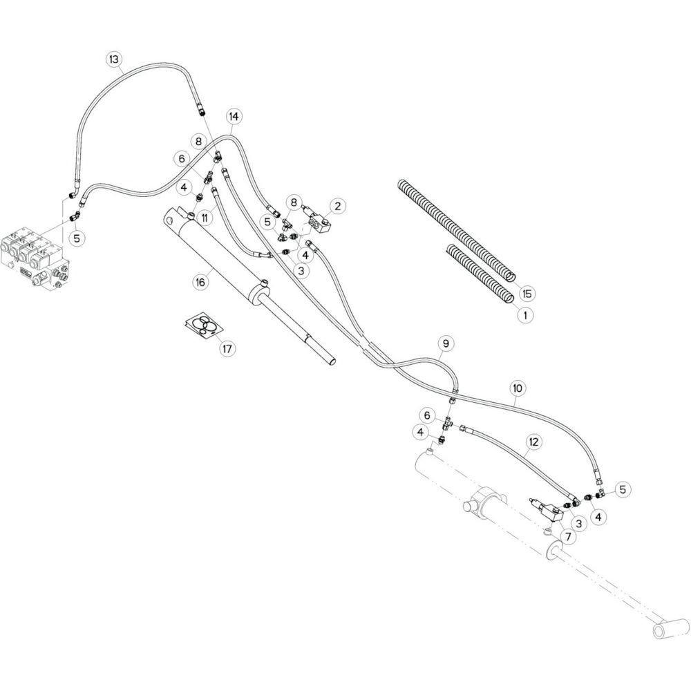 22 Hydrauliekslangen, rechts 2 passend voor KUHN GF13012