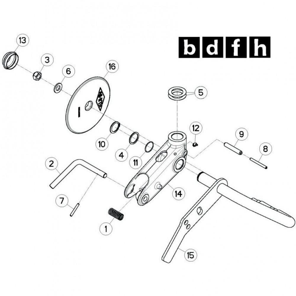 32 Wielkolom 5 passend voor KUHN GF13012